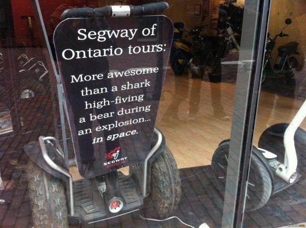 Segway - awesome indeed.