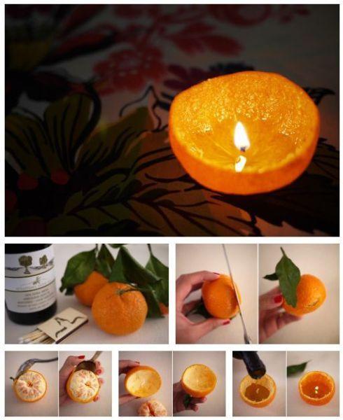 Orangen Teelicht