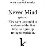 True meanings