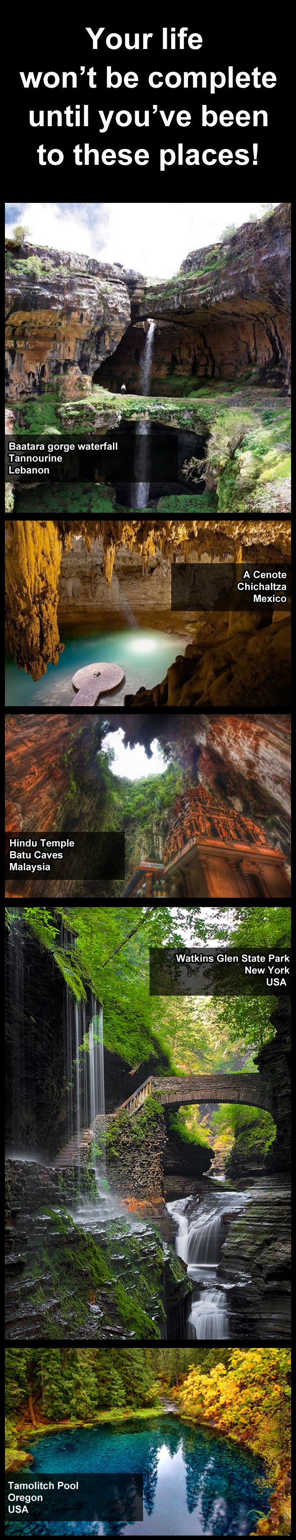 Some of the worlds most beautiful places